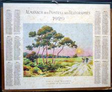 CALENDRIER ALMANACH DES POSTES PTT 1929 PINS A L'ILE D'OLERON   DEPARTEMENT DU CHER    POSTES ET TELECOMMUNICATION - Big : 1921-40