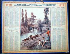 CALENDRIER ALMANACH DES POSTES PTT 1929 GARDEURS DINDONS EN DORDOGNE  DEPARTEMENT DU RHONE   POSTES ET TELECOMMUNICATION - Big : 1921-40
