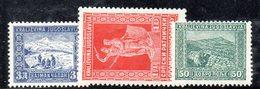 EU349 - YUGOSLAVIA 1931 , Serie 207/209  ** - Nuovi