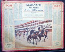 CALENDRIER ALMANACH DES POSTES PTT 1928 LA QUADRILLE    POSTES ET TELECOMMUNICATION - Big : 1921-40