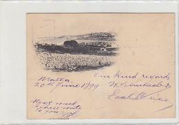 Valetta - Early Postcard - Interesting Stamps - 1899   (170205) - Malta