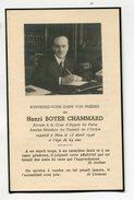 Carte De Deuil - Henri Boyer CHAMMARD Avocat à La Cour D'Appel De Paris 1946 - Décès