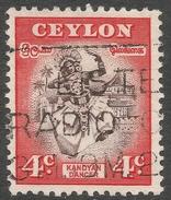 Ceylon. 1950 Definitives, 4c Used. SG 413 - Sri Lanka (Ceylon) (1948-...)