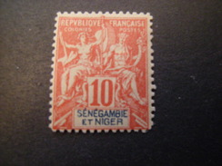 SENEGAMBIA E NIGER, 1903,  Fournier Rare, Cent. 10, N. 5, MNH* TTB - Unused Stamps