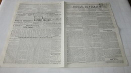 INDRE - CHÂTEAUROUX - LE BLANC - EMEUTE ET SEDITION - LES MEUTES DE LA FAIM DANS L'INDRE - 1847 JOURNAL DE TOULOUSE - Journaux - Quotidiens