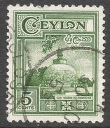 Ceylon. 1950 Definitives, 5c Used. SG 414 - Sri Lanka (Ceylon) (1948-...)
