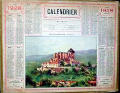 CALENDRIER ALMANACH DES POSTES PTT 1928  ST BERTRAND DE COMMINGES  DEPARTEMENT DU CANTAL POSTES ET TELECOMMUNICATION - Big : 1921-40