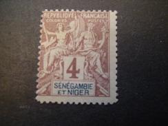 SENEGAMBIA E NIGER, 1903,  Fournier Rare, Cent. 4, N. 3, MNH* TTB - Unused Stamps