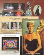 Royal Blocks 2002 Guinea/duNiger  Bl.14,20,89,I110 **/o 36€ Queen Elisabeth Anne Diana Hoja Bloc Ms Sheet Bf Royals - Timbres