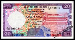 SRI LANKA 20 RUPEES 1990 Pick 97c Unc - Sri Lanka