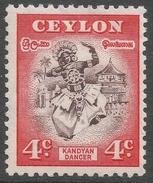 Ceylon. 1950 Definitives, 4c MH. SG 413 - Sri Lanka (Ceylon) (1948-...)