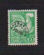 Préoblitérés / N 122 / 55 Centimes Vert / Décollé