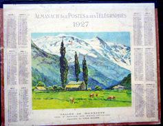 CALENDRIER ALMANACH DES POSTES PTT 1927 VALLEE DE MONTJOYE  SAINT GERVAIS  DEPARTEMENT CHER  POSTES ET TELECOMMUNICATION - Big : 1921-40