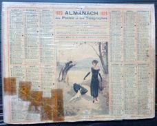 CALENDRIER ALMANACH DES POSTES PTT 1926 CHEMIN AU BORD DU LAC   POSTES ET TELECOMMUNICATION - Big : 1921-40