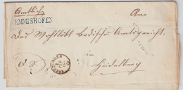 "1863 ,L1 "" EMMISHOFEN ""  , #7348 - 1862-1881 Helvetia Assise (dentelés)"
