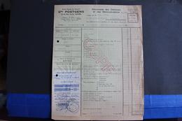 Fac-114 / Gme Poetgens, Société Anonyme De Transports - 12-14, Rue Verlat, Anvers - Antwerpen   /1952 - Transport
