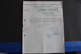 Fac-117 / Liège, Constructions électromécaniques - Radioélectricité - Achille Lecomte, Rue De L'Église,39, Ensival /1948 - Electricity & Gas