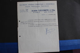 Fac-118/Liège,Électricité Générale Domestique & Industrielle - Achille Lecomte & Fils, Rue De L'Église,39,Ensival / 1953 - Electricity & Gas