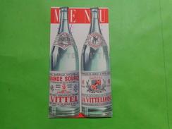 Pub Menu -vittel Grande Source-15x8cm Ferme - Autres Collections
