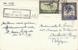 Congo Belge Par Avion SURTAXE AERIENNE INSUFFISANTE - Luftpost: Briefe U. Dokumente