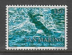 TIMBRE NEUF DE SAINT-MARIN - CHAMPIONNATS D'EUROPE, D'AFRIQUE ET MEDITERRANEENS DE SKI NAUTIQUE N° Y&T 980