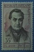 France 1957 : Centenaire De La Mort D´Auguste Comte N° 1121 Oblitéré - Gebruikt