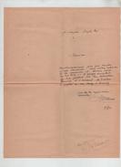 Lettre Autographe Jean De La Varende 1944 Rare - Autogramme & Autographen