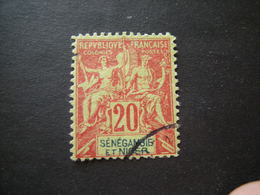 SENEGAL - 1892, Fournier Rare, Cent. 40, N. 17, Obl. TTB - Senegal (1887-1944)