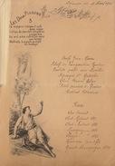Menu 19 Avril 1904 Poème Les Deux Pigeons - Menus