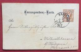 REPUBBLICA CECA CORRISPONDENZ - KARTE  2 KR   AUSTRIA CON ANNULLI  KARLSBAD KARLOVY VARY IN DATA 11/9/1885 - Repubblica Ceca