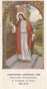 COMUNIONE PASQUALE 1948 MILANO (140710) - Images Religieuses