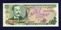 Banconota Costa Rica 5 Colones 1992 -FDS - Costa Rica