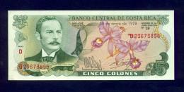 Banconota Costa Rica 5 Colones 1978 - FDS - Costa Rica