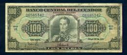 Ecuador - 100 Sucre 20/5/1971 BB - Ecuador