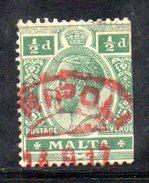 XP2284 - MALTA , Il Valore Da 1/2 Penny Con Annullo Di Napoli