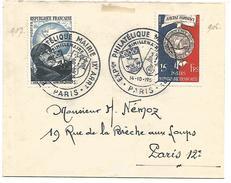 OBLITERATION COMMEMORATIVE EXPOSITION PHILATELIQUE MAIRIE DU IX EME ARRONDISSEMENT PARIS 1951