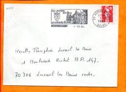 DOUBS, Herimoncourt, Flamme SCOTEM N° 10234, Son Chateau, Son Parc, La Vallée Du Gland - Marcophilie (Lettres)