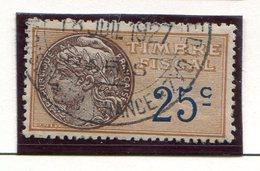 FRANCE- Timbre Fiscal Y&T N°9 De 1925- Oblitéré - Fiscaux