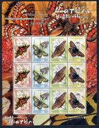 BELARUS 2004 Butterflies Sheetlet MNH / **.  Michel 557-60 Kb - Belarus
