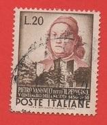 1951 (668) Pietro Vannucci - Leggi Il Messaggio Del Venditore - 1946-60: Afgestempeld