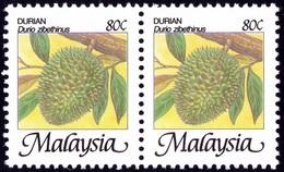 MALAYSIA Agro Series Durian Definitive 80c Pair MNH @RM533 - Malaysia (1964-...)