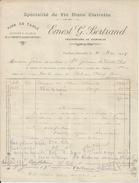 PAULHAN ERNEST G BERTRAND PROPRIETAIRE DE VIGNOBLES VIN BLANC CLAIRETTE ROUGES BLANCS ANNEE 1918 - France