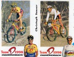 5447 2 Cartes Cyclisme  Team Diamondbeack 1998 - Cyclisme