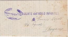 Comunicazione-del Provveditorato Agli Studi  Di Bergamo. - Documents Historiques