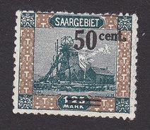 Saar, Scott #93, Mint No Gum, Scene Of Saar Surcharged, Issued 1921 - Unused Stamps