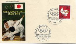 DEUTSCHLAND  BONN  XVIII° Jeux Olympiques  Tokyo  10/10/64