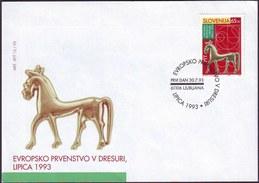 SLOVENIA - European Champion. In Dressage Lipizzaner - FDC - 1993 - Paarden
