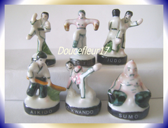 Arts Martiaux ...Lot De 6 Feves ... Ref AFF :  30-1995 ..( Pan 006) - Sports