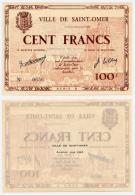 1940 // Ville De SAINT-OMER // Série B // Bon De Cent Francs - Bons & Nécessité