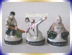 Arts Martiaux ...Lot De 3 Feves ... Ref AFF :  30-1995 ..( Pan 006) - Sports